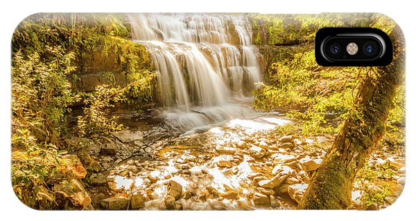Stone Wall iPhone Case - Spring Waterfall by Jorgo Photography - Wall Art Gallery