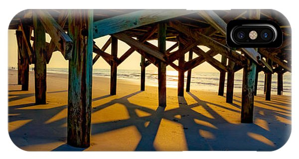 Springmaid Pier At Sunrise IPhone Case