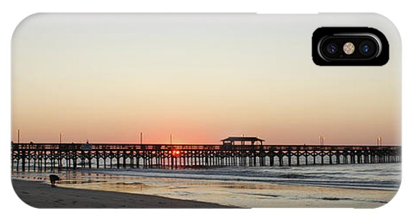 Springmaid Pier Sunrise IPhone Case