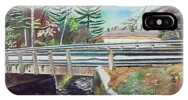 Springtime At Bass Lake Bridge IPhone Case