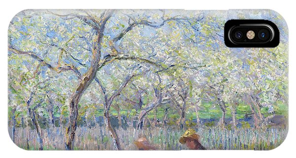 Orchard iPhone Case - Springtime by Claude Monet