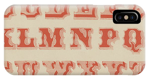 Spurred Letter IPhone Case