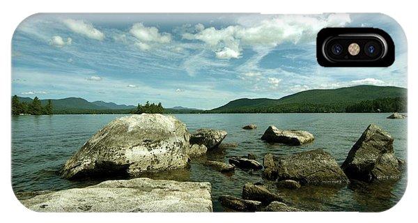 Squam Lake On The Rocks IPhone Case