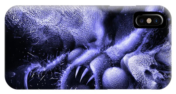 IPhone Case featuring the digital art Squamafly Blue by Russell Kightley