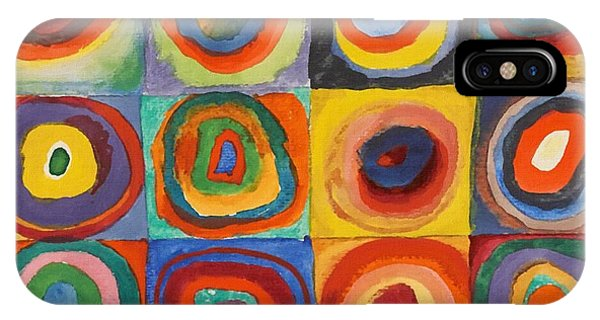 Squares With Concentric Circles IPhone Case