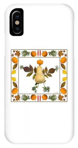 Squash With Pumpkin Head IPhone Case