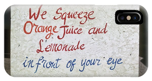 Squeezed Juice Sign IPhone Case