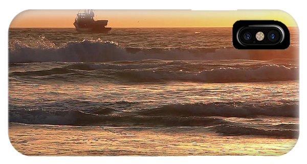 Squid Boat Golden Sunset IPhone Case