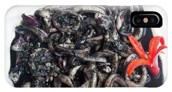 Squid iPhone Case - Squid In Ink by Atiketta Sangasaeng