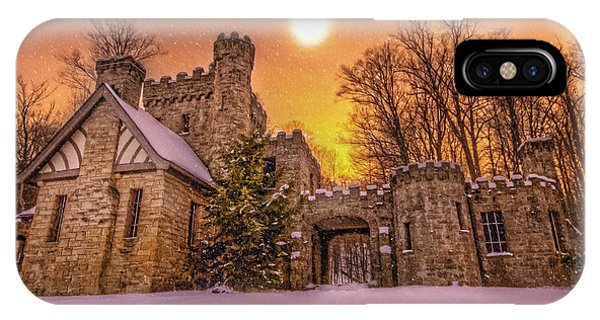 Squires Castle In The Winter IPhone Case
