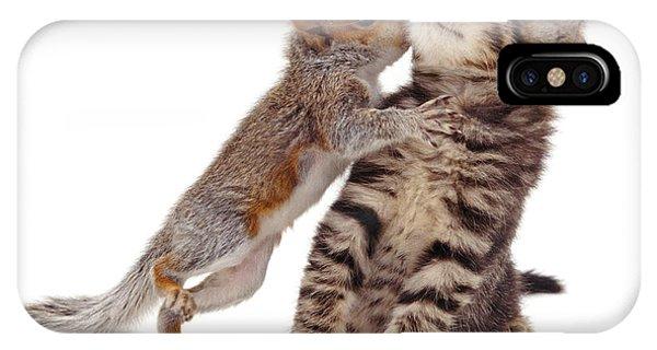 Squirrel Kiss IPhone Case