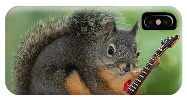 Squirrel Playing Electric Guitar IPhone Case