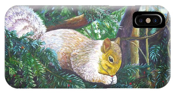 Squirrel Snacking IPhone Case