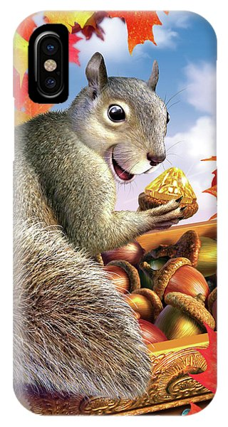 Discovery iPhone Case - Squirrel Treasure by Jerry LoFaro