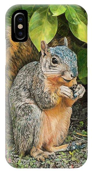 Squirrel Under Bush IPhone Case