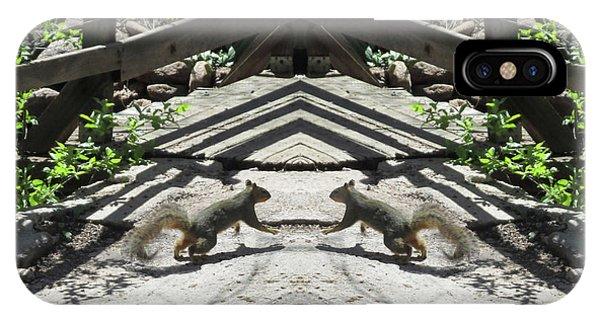 Squirrels Dancing On A Bridge IPhone Case