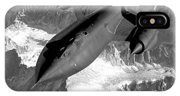 Blackbird iPhone Case - Sr-71 Blackbird Flying by War Is Hell Store