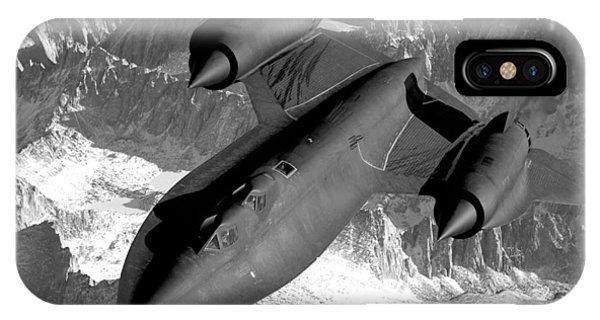 Sierra Nevada iPhone Case - Sr-71 Blackbird Flying by War Is Hell Store