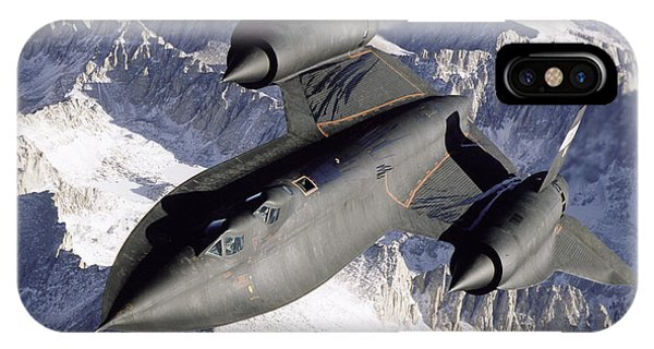Sr-71b Blackbird In Flight IPhone Case