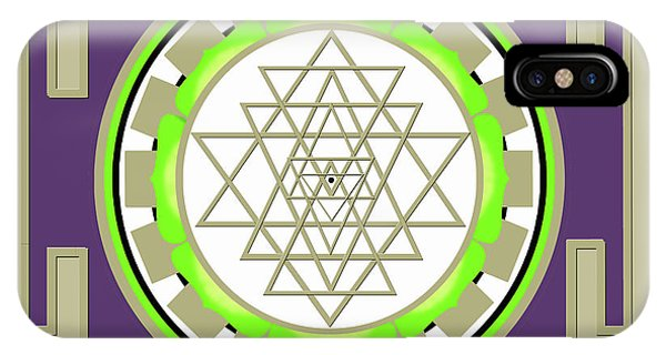 Sri Yantra Of Prosperity IPhone Case
