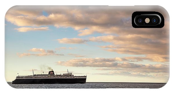 Marquette iPhone Case - Ss Badger Leaving Port by Adam Romanowicz