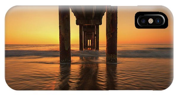 St Augustine Beach Pier Morning Light IPhone Case