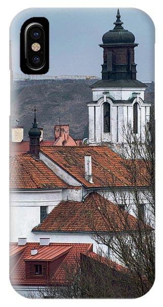 iPhone Case - St Bartholomew And Vilnius Castle by Steven Richman
