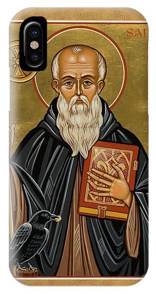 St. Benedict Of Nursia - Jcbnn IPhone Case