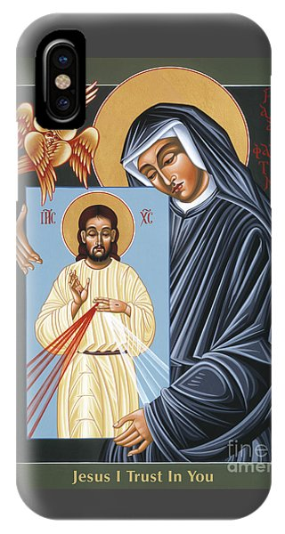 St Faustina Kowalska Apostle Of Divine Mercy 094 IPhone Case