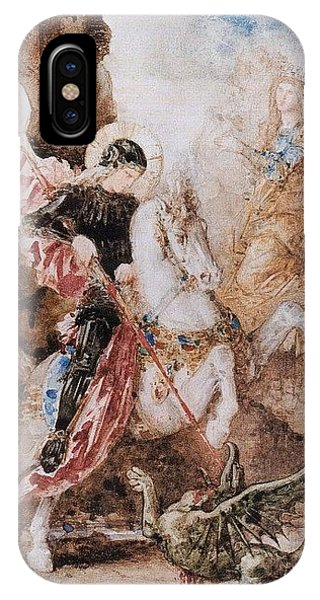 iPhone Case - St George 1869 Gustave Moreau by Eloisa Mannion