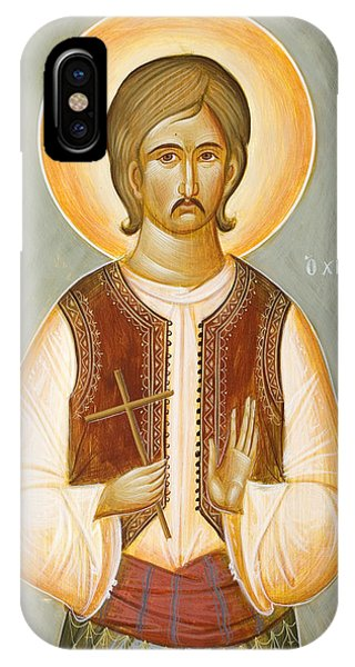 St George The New Martyr Of Chios Phone Case by Julia Bridget Hayes