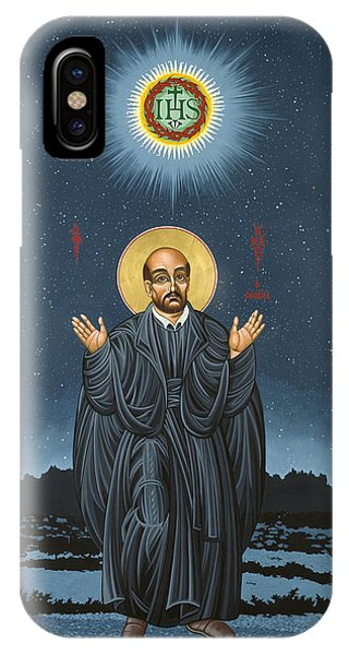 St. Ignatius In Prayer Beneath The Stars 137 IPhone Case