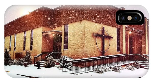 St. Isaac Jogues In The Snow IPhone Case