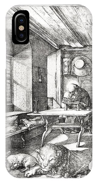 Interior iPhone Case - St Jerome In His Study by Albrecht Durer or Duerer