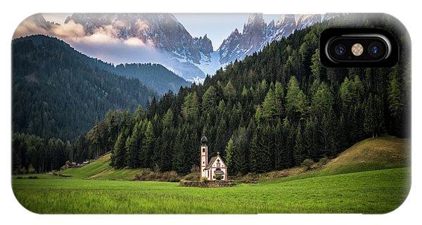 St. Johann Church In Val Di Funes IPhone Case