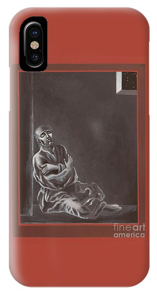 IPhone Case featuring the painting  St John Of The Cross In The Dark Night Of The Soul 290 by William Hart McNichols