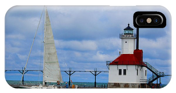 St. Joseph Lighthouse Sailboat IPhone Case