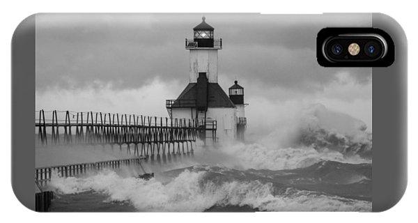 St. Joseph North Pier Lighthouse IPhone Case