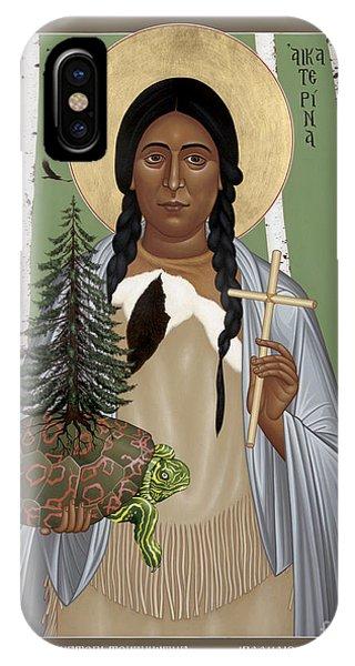 St. Kateri Tekakwitha Of The Iroquois - Rlktk IPhone Case