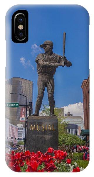 St. Louis Cardinals Busch Stadium Stan Musial Roses IPhone Case