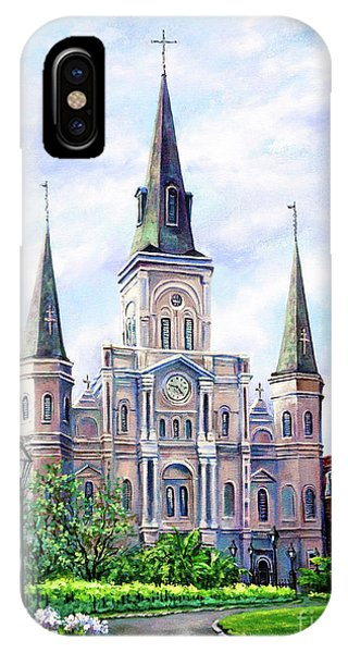 French Artist iPhone Case - St. Louis Cathedral by Dianne Parks