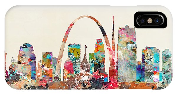 Missouri iPhone Case - St Louis Missouri Skyline by Bri Buckley