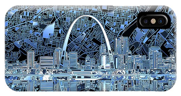 St Louis Skyline Abstract 5 IPhone Case