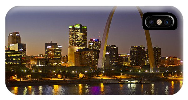 Gateway Arch iPhone Case - St Louis Skyline From Poplar Street Bridge by Garry McMichael