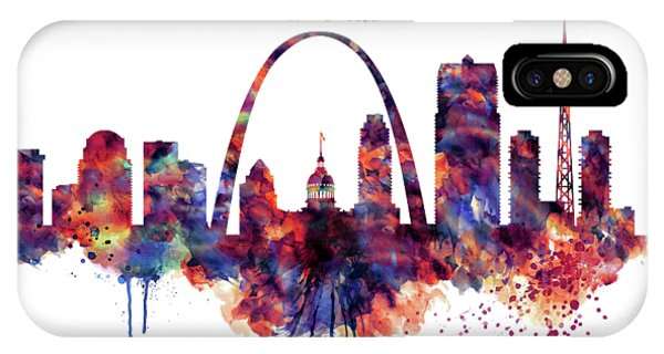 Gateway Arch iPhone Case - St Louis Skyline by Marian Voicu