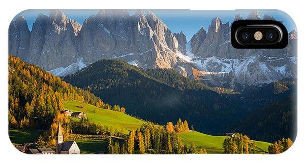 St. Magdalena Alpine Village In Autumn IPhone Case