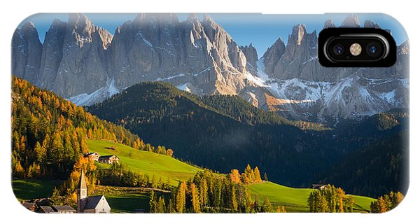 IPhone Case featuring the photograph St. Magdalena Alpine Village In Autumn by IPics Photography