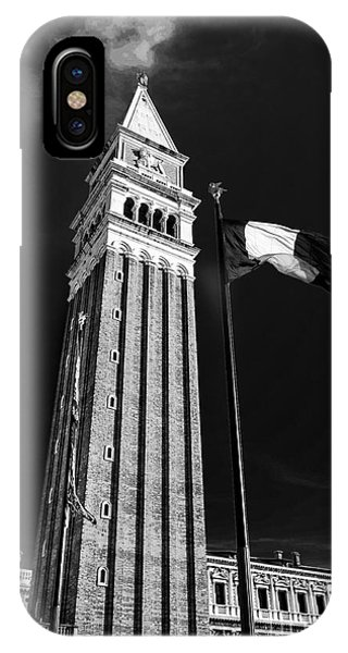 St. Marks Square Bell Tower Venice Phone Case by Ken Andersen