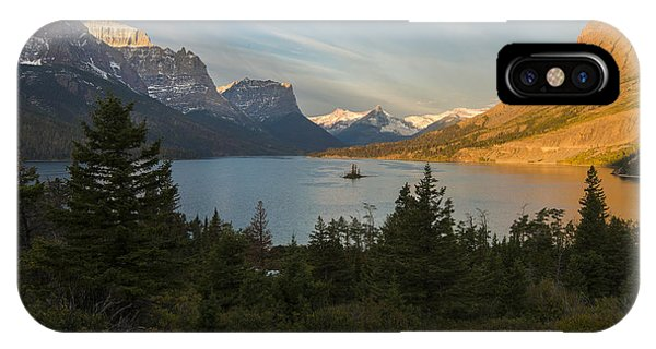 IPhone Case featuring the photograph St. Mary Lake by Gary Lengyel