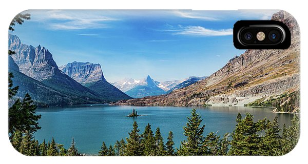 IPhone Case featuring the photograph St. Mary Lake, Glacier N.p. by Lon Dittrick